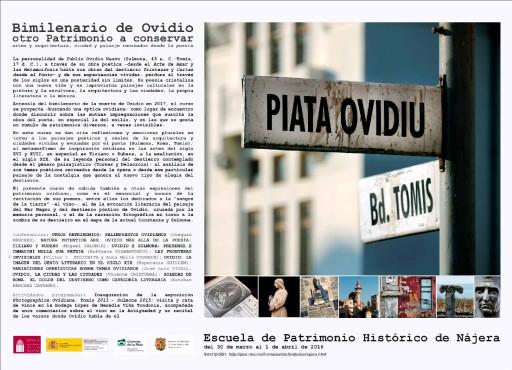 Presentación online del curso sobre Ovidio en la Escuela de Patrimonio Histórico de Nájera (30 de marzo/1 abril)
