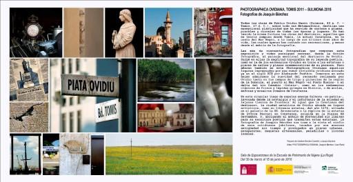 Presentación online de Photographica Ovidiana. Tomis 2011-Sulmona 2015. Nájera, 2016