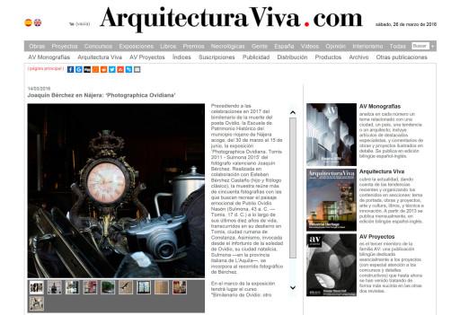 Arquitectura Viva.com, 14/03/2016