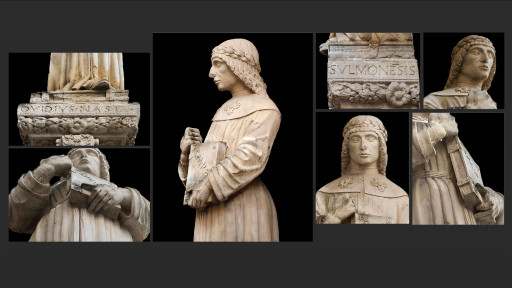 (Ovidio, Tristezas, 1,15-6) | Estatua de Ovidio (1474) en el palazzo de la SS. Annunziata, Sulmona (Italia), 2015
