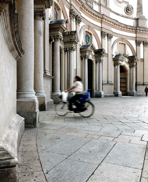 Fachada de la catedral de Vigevano. Pavía. Italia. 2006