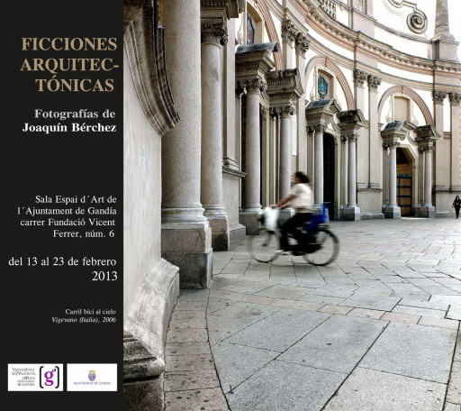 Invitación para la exposición Ficciones Arquitectónicas en la Sala Espai d'Art de Gandía (2013)