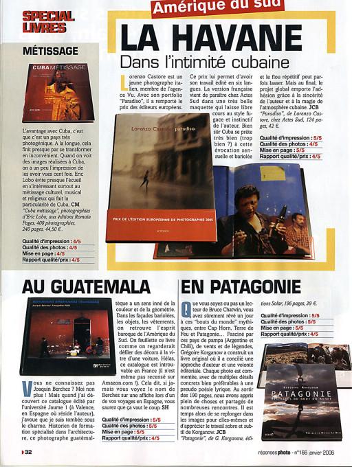 """S. H., """"Au Guatemala"""", Speciel Livres, en Réponses Photo, Francia, nº 166, janvier, 2006"""