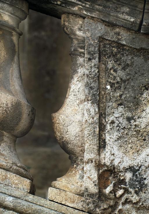 Xàtiva. Colegiata. Escalera de la fachada norte. 2005
