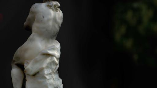 Estatua de Apolo en los jardines del Real o Viveros (antiguamente en el Huerto de Pontons). Valencia