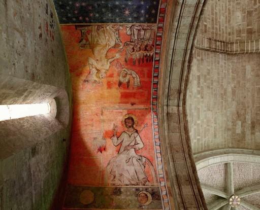 Pintura mural de la capilla de San Miguel en la iglesia de San Juan del Hospital. Valencia. Siglo XIII. 2007