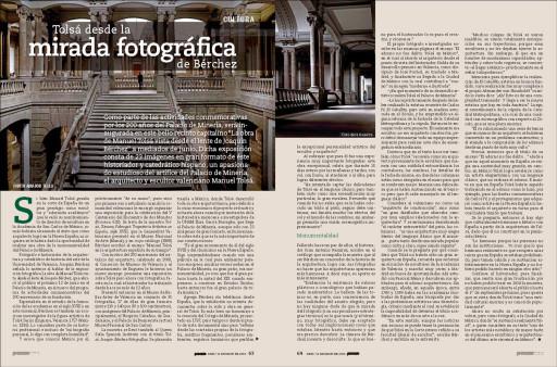 """""""Tolsá desde la mirada fotográfica de Bérchez"""" (Judith Amador), Proceso, México, nº 1906, 12 de mayo de 2013"""