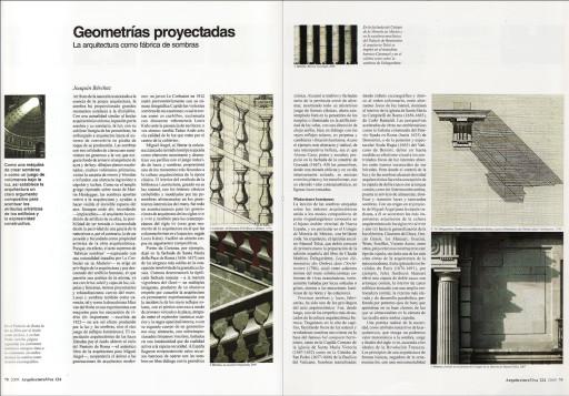 """""""Geometrías proyectadas"""" (Joaquín Bérchez), Arquitectura Viva 124, 2009"""