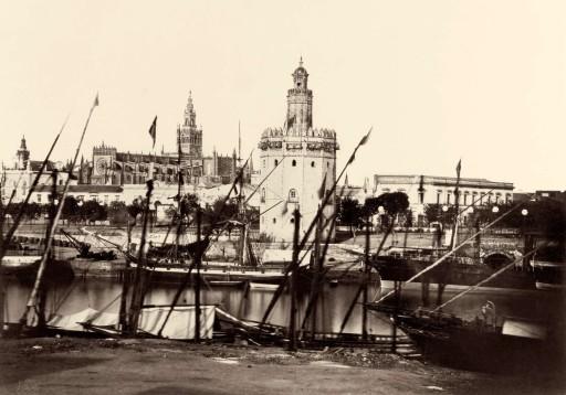 CHARLES CLIFFORD, segunda mitad de septiembre 1862. El Guadalquivir, la Torre del Oro y la Catedral. Andalucía: Sevilla
