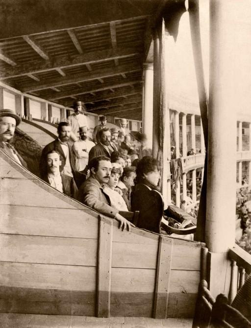 EMILIO BEAUCHY, 1885. Plaza de Toros, espectadores. Andalucía: Sevilla