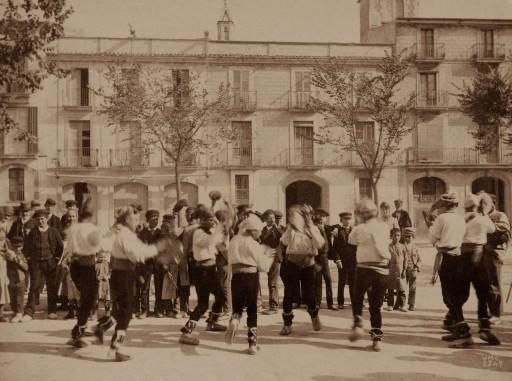 """JOSEP MARÍA CAÑELLAS, 1888-89. """"Dancers"""". Cataluña: Villafranca del Penedés"""