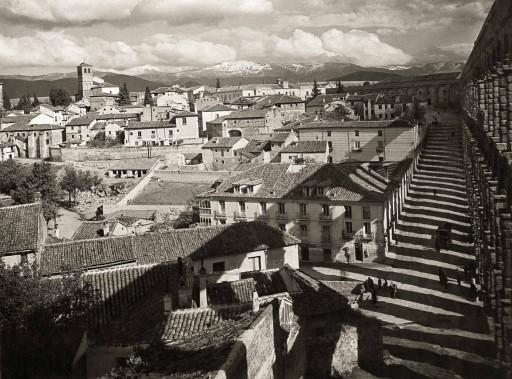 KURT HIELSCHER, 1914-19. Acueducto romano y Sierra de Guadarrama Castilla la Vieja: Segovia