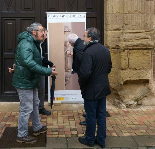 Entrada a la exposición en la Escuela de Patrimonio Histórico de Nájera