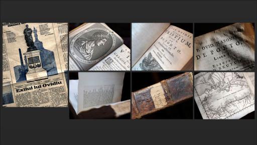 Exilul lui Ovidiu [Dobrogea Literara (junio 1925)] / Pub. Ovidii Nasonis Opera Omnia, (Lugduni Batavorum, apud Petrum Leffen, 1661-62)