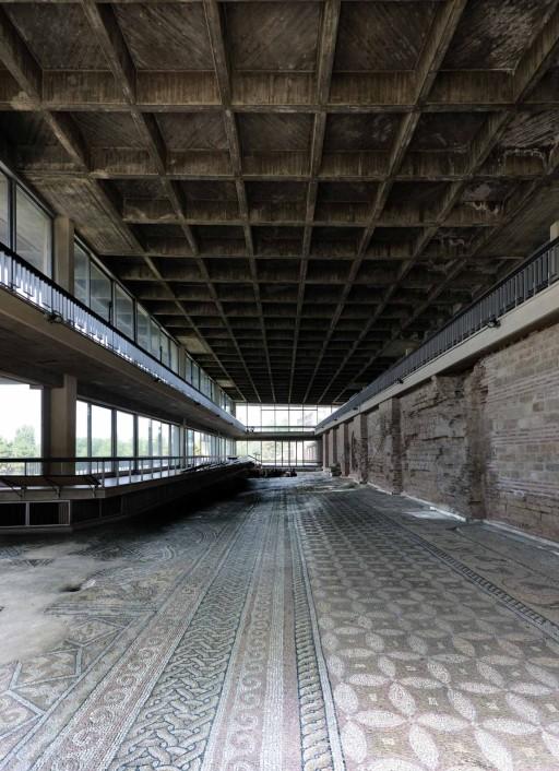 Mosaico romano (s. IV d. C.). Edificio del Mosaico de Constanza (Rumanía), 2011