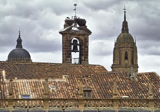 Plaza Mayor. Espadaña de San Martín, torre y cúpula de la Catedral. 2004