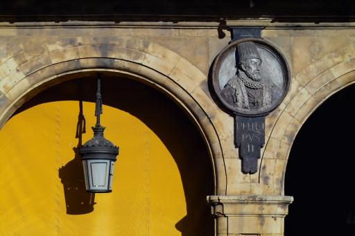 Plaza Mayor. Medallón de Felipe II. 2004