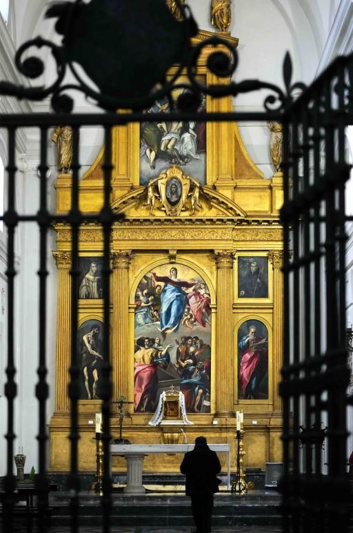 El Greco. Toledo. Iglesia Santo Domingo el Antiguo. Retablo mayor (1577-79). 2012