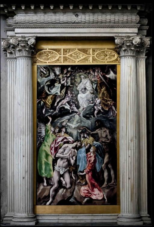 El Greco. Toledo. Retablo lateral de la Iglesia del Hospital Tavera con El Bautismo de Cristo (1608-1614). 2013