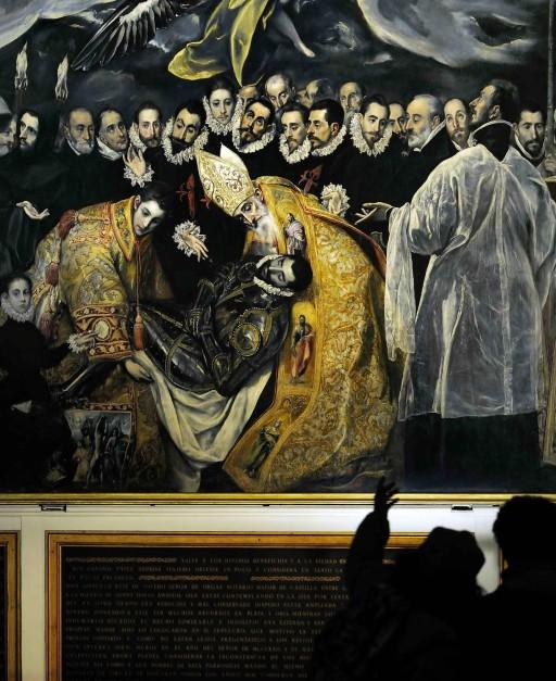 El Greco. Toledo. El entierro del señor de Orgaz (1586-1588).  Parroquia de Santo Tomé. 2013