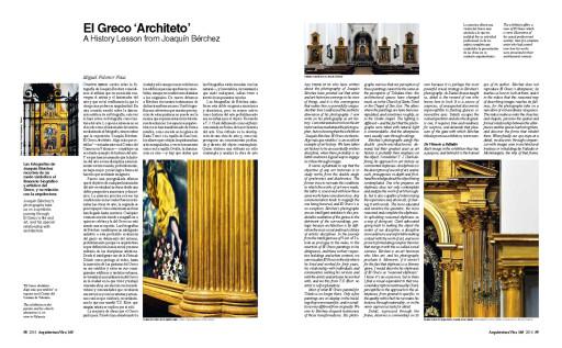 """""""El Greco 'Architecto'. A History Lesson from Joaquín Bérchez"""" (Miguel Falomir), Arquitectura Viva, 165, 2014."""