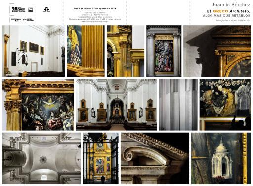 """Folleto de """"El Greco Architeto, algo más que retablos"""" en el Centro del Carmen de Valencia"""