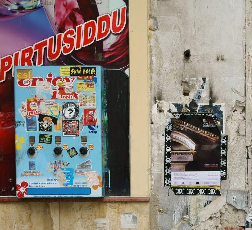 Cartel de la exposición, en la Vucciria de Palermo