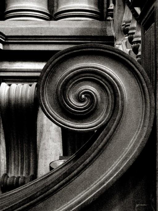 Florencia. Escalera del vestíbulo de la Biblioteca Laurenziana. 2006