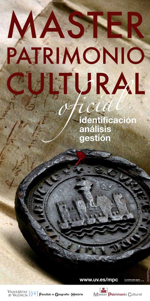Cartel del Master de Patrimonio Cultural, Universitat de Valencia, Valencia, 2011