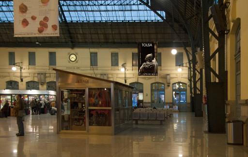 Cartel exposición Tolsá, Estación del Norte (Valencia)
