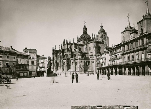 Casiano ALGUACIL, 1862-1906. [en torno a 1866] Plaza Mayor. Castilla la Vieja: Segovia