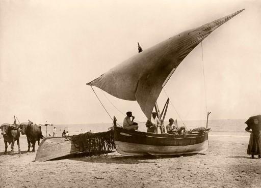 ANNA M. CHRISTIAN, 1915. Barca de pesca, Valencia