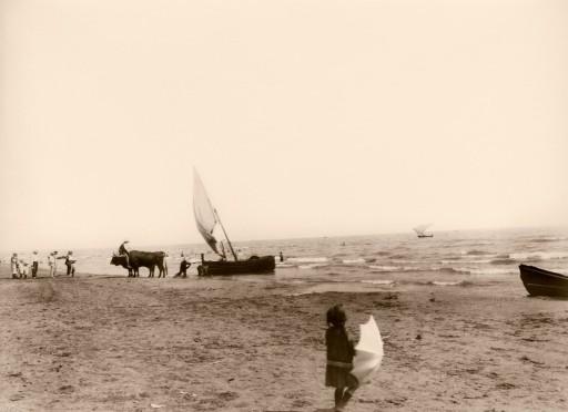 ANNA M. CHRISTIAN, 1915. Varar la barca