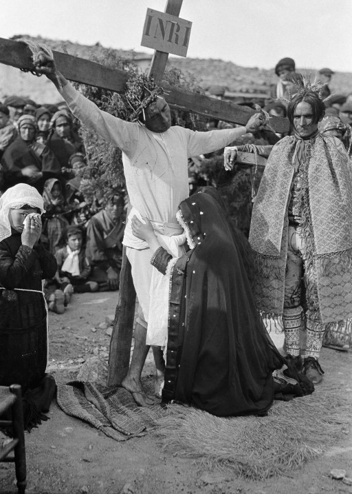 RUTH MATILDA ANDERSON, 5/IV/1926. Drama de la Pasión. La crucifixión. San Juan y María. León: Villalcampo - Zamora